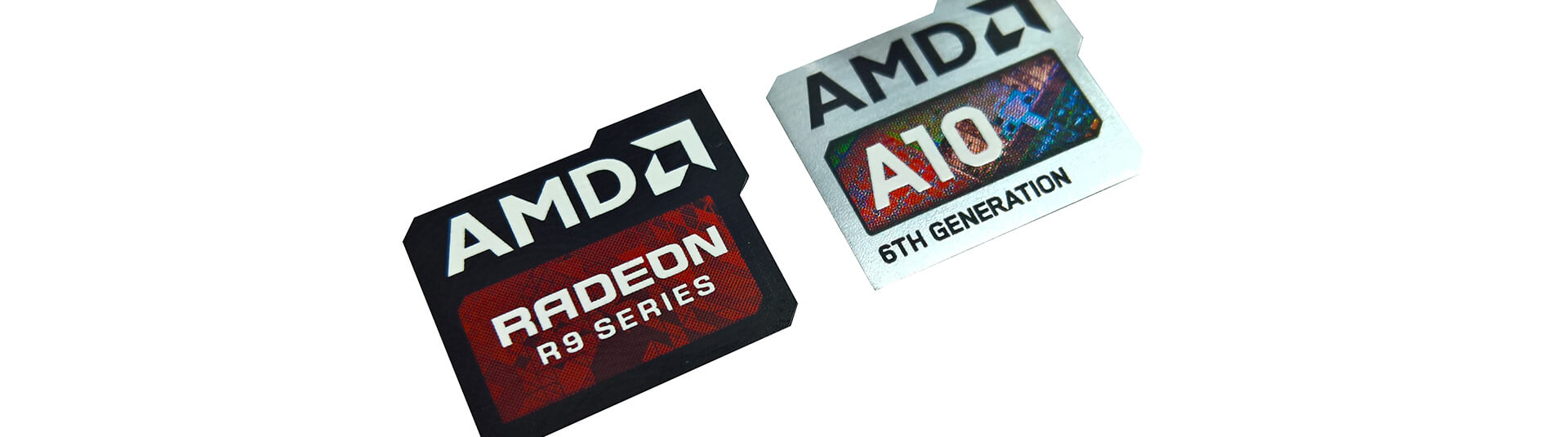 AMD Laptop Brand Labels