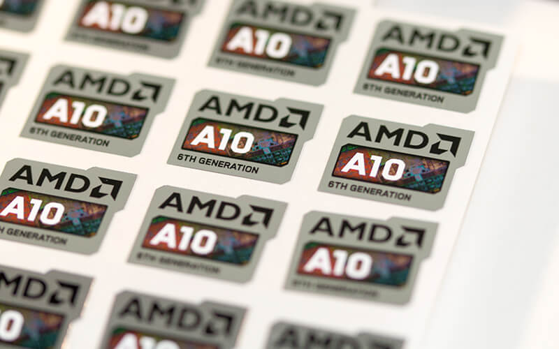AMD Brand CPU Label