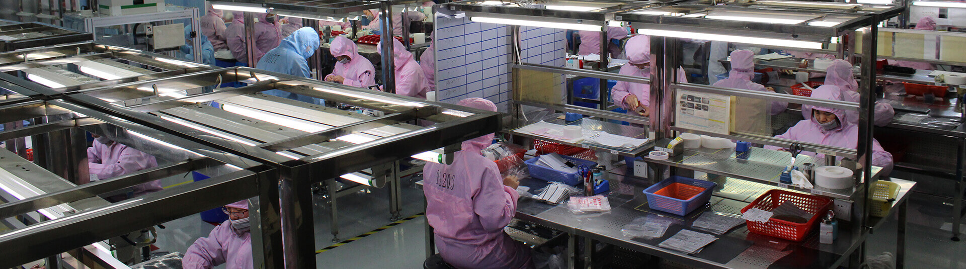 Clean room assembly in our building M facility in China