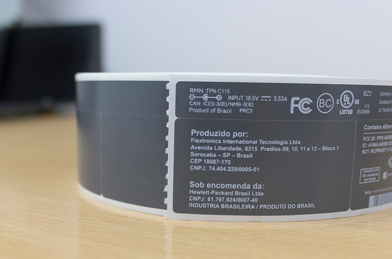 Roll of thermal transfer labels